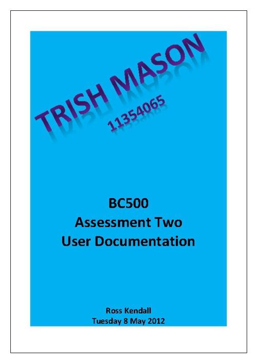 Trish Mason - Phrogram user manual