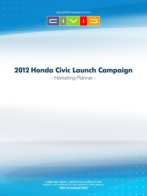 2012 Civic Launch Vehicle Upgrade Program Planner