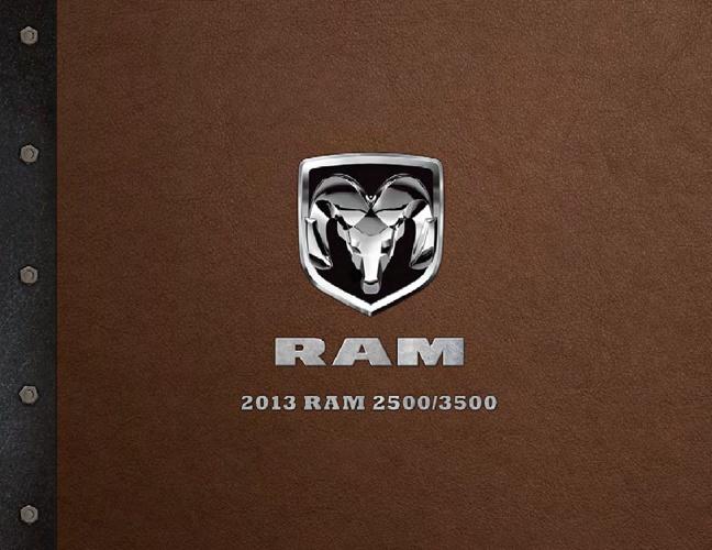 2013 Ram 2500 & 3500