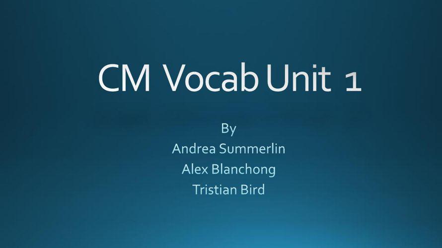 Tristian CM Vocab Unit 1