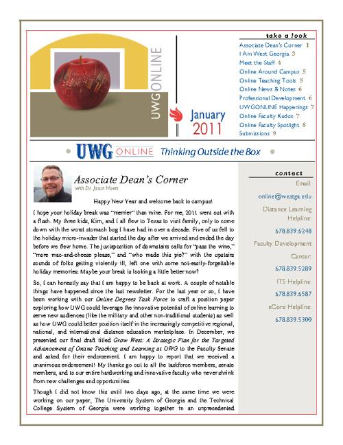 UWG Online Newsletter