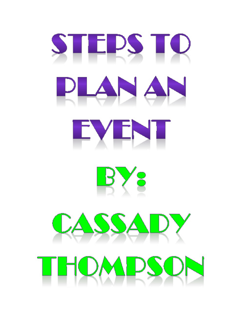 STEPS TO PLAN AN EVENT