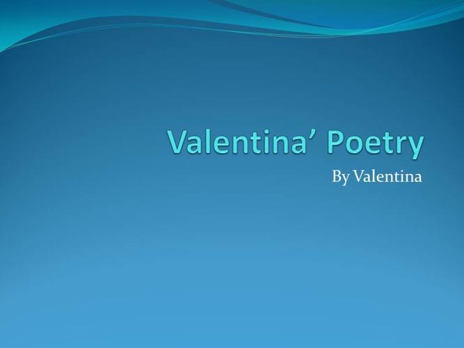 Valentina's Poetry
