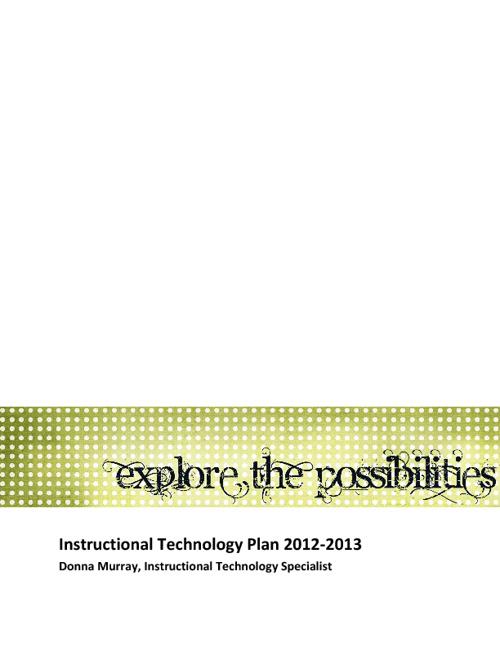 Instructional Technology Plan 2012-13