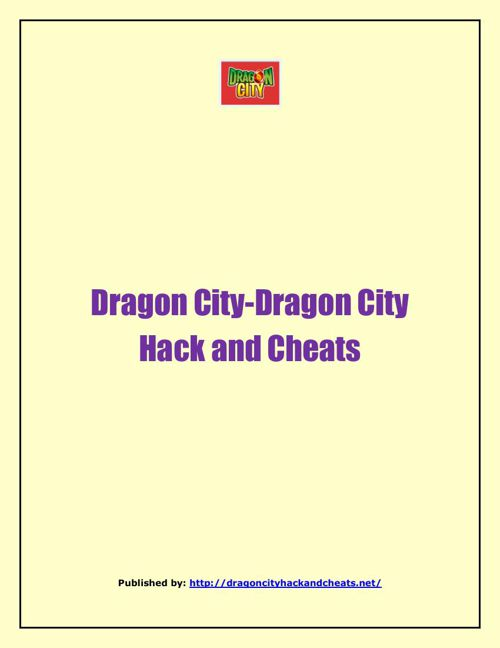 Dragon City-Dragon City Hack And Cheats