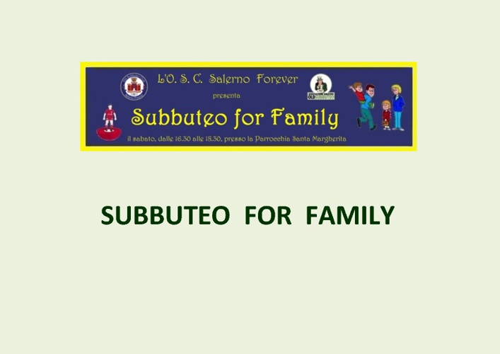 Subbuteo for Family (2012)