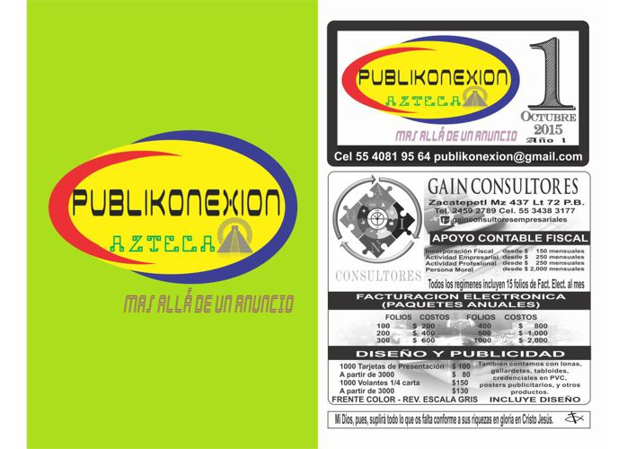 PUBLIKONEXION AZTECA OCTUBRE 2015