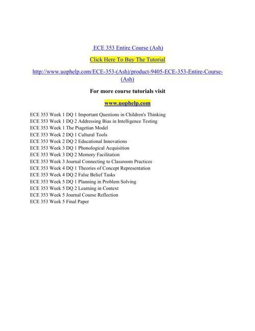ECE 353 Entire Course