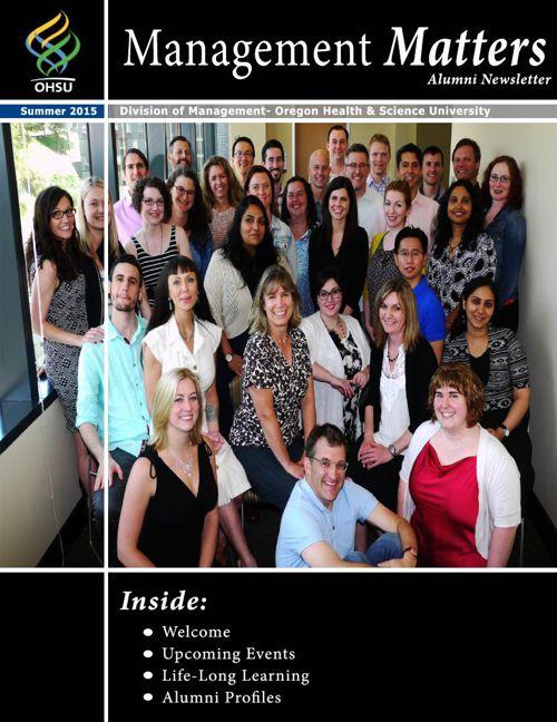 Alumni Newsletter- Summer 2015