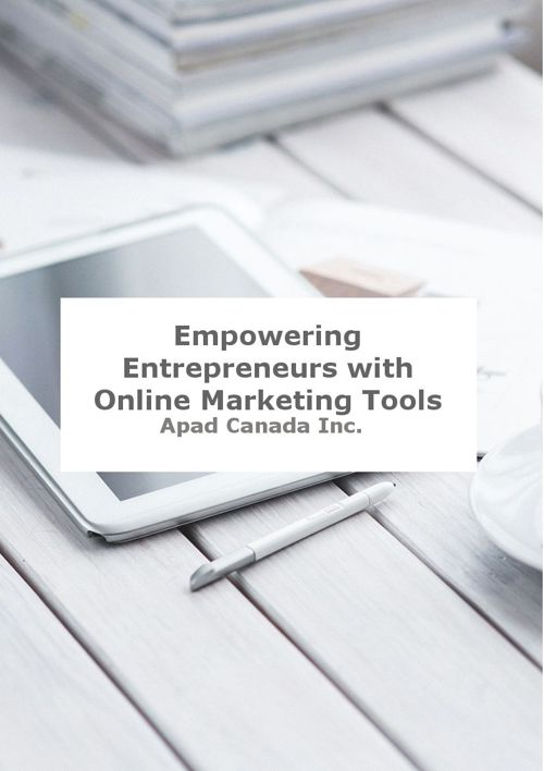 Empowering Entrepreneurs with Onlne Marketing Tools
