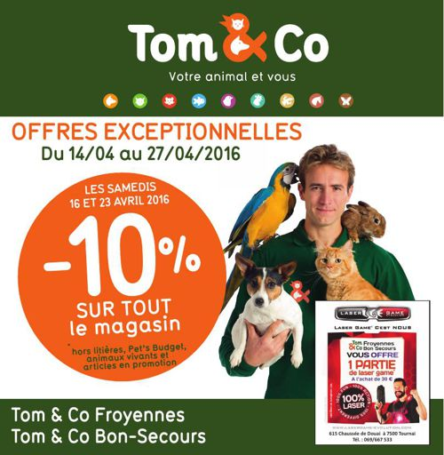 Folder Tom and Co Froyennes & Bon-Secours avril 2016