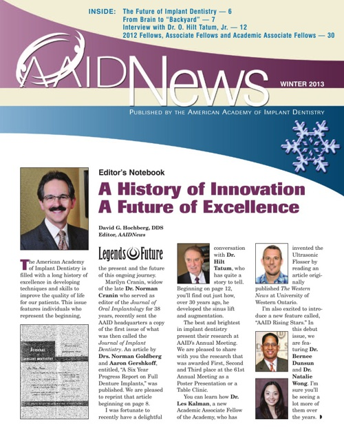 Winter 2013 AAID News