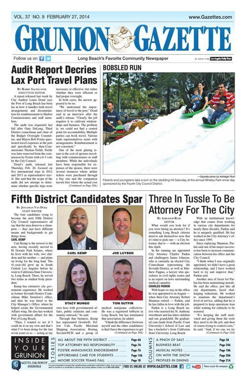 Grunion Gazette | February 27, 2014