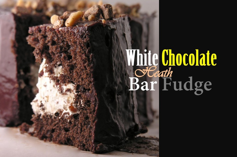 White Chocolate Heath Bar Fudge