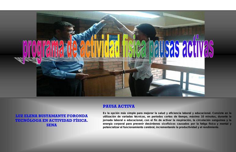 PROGRAMA DE ACTIVIDAD FISICA