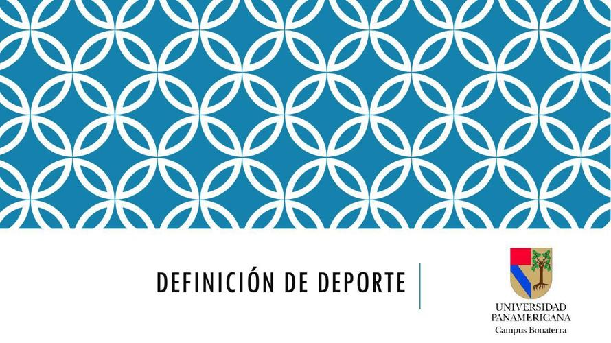 Definición de Deporte pdf