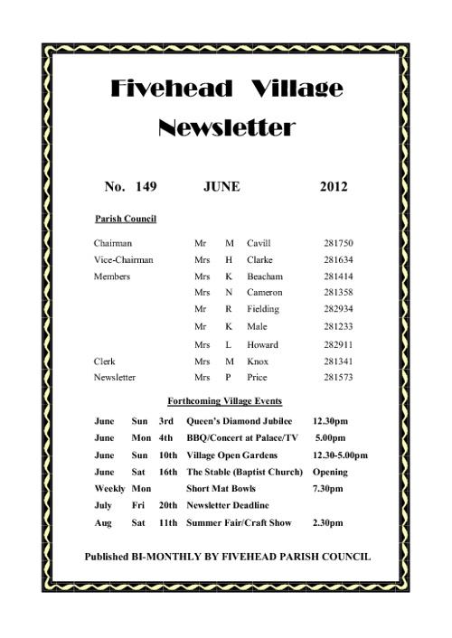 Fivehead Newsletter - June 2012