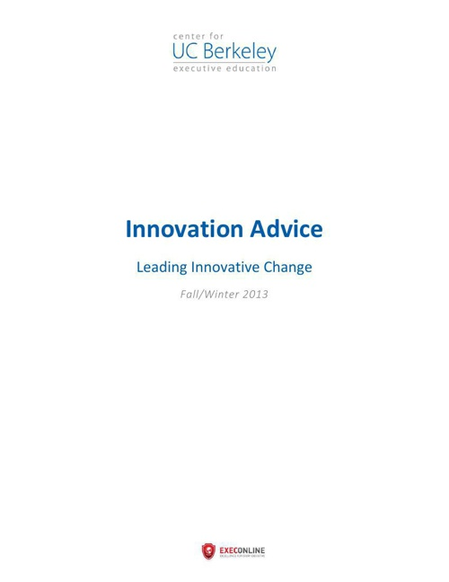 Innovation Advice