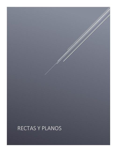 planos y rectas
