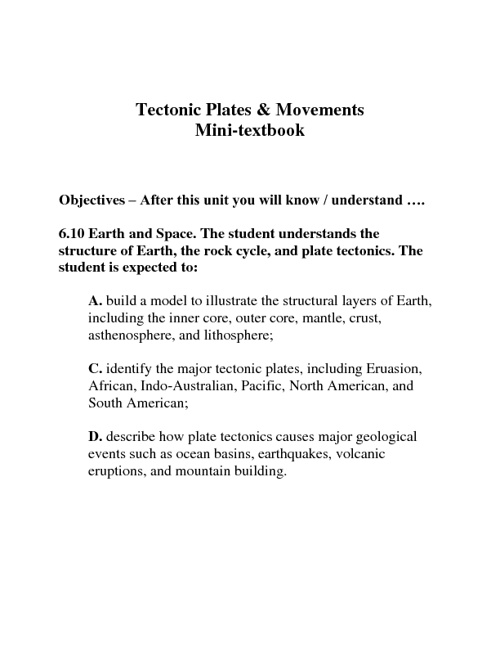 6th Tectonic Plates and Movement