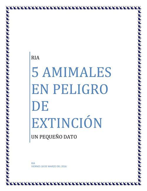 RIA en peligro de extincion