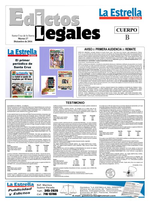 Judiciales 27 lunes - diciembre 2016