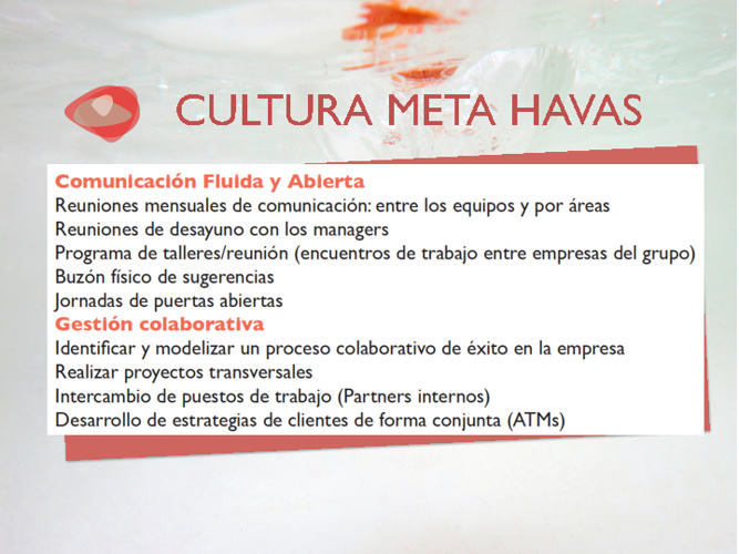 Iniciativas CULTURA META HAVAS