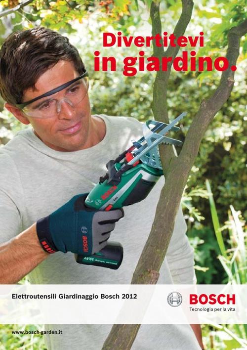 Bosch Catalogo Linea Giardinaggio 2012/2013