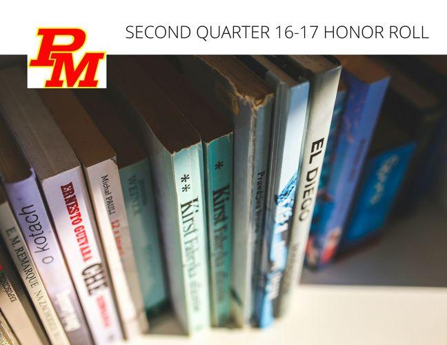 2016-17 Honor Roll Second Quarter