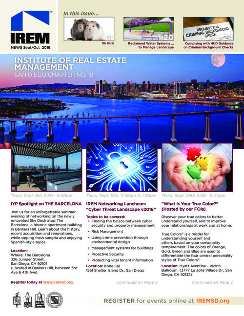 IREMSD Sept/Oct 2016 Newsletter
