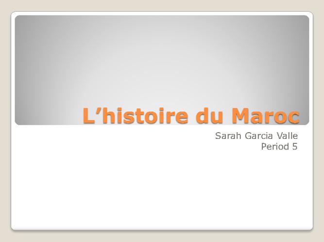 L'histoire du maroc