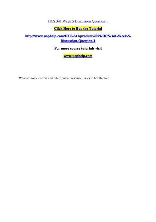 HCS 341 Academic Coach/uophelp
