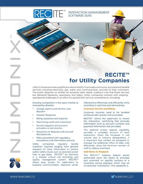 RECITE for Utility Companies