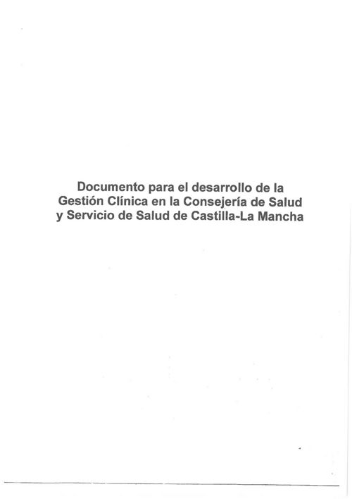 ICOMT - DOCUMENTO PARA EL DESARROLLO DE LA GESTIÓN CLÍNICA SESCA