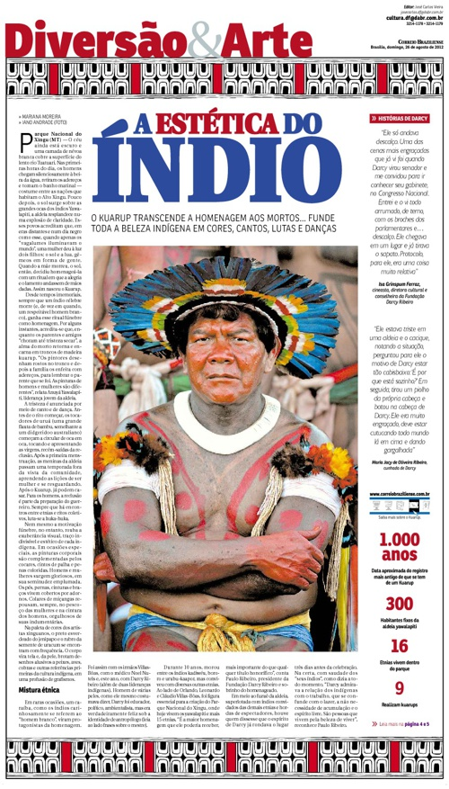 Kuarup o último adeus dos povos Xingu