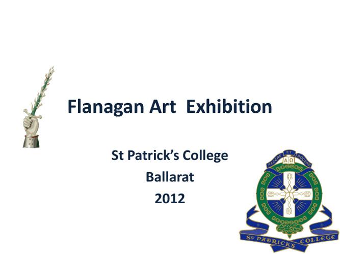 Flanagan Art Award St Patrick's College Ballarat