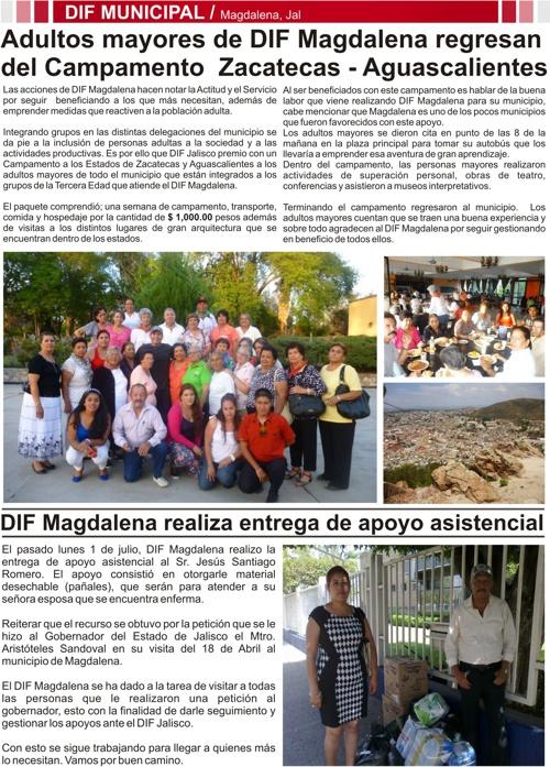 4 Gaceta del Gobierno Municipal de Magdalena Jalisco