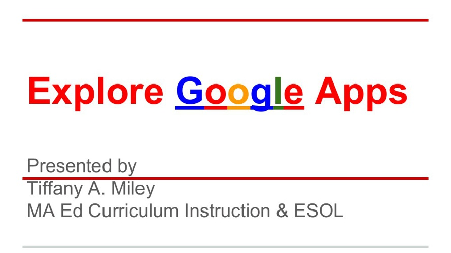 Explore Google Apps