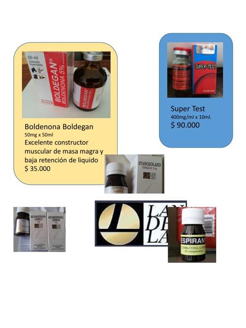 Suplementos, Anabolizantes y productos de mesoterapia
