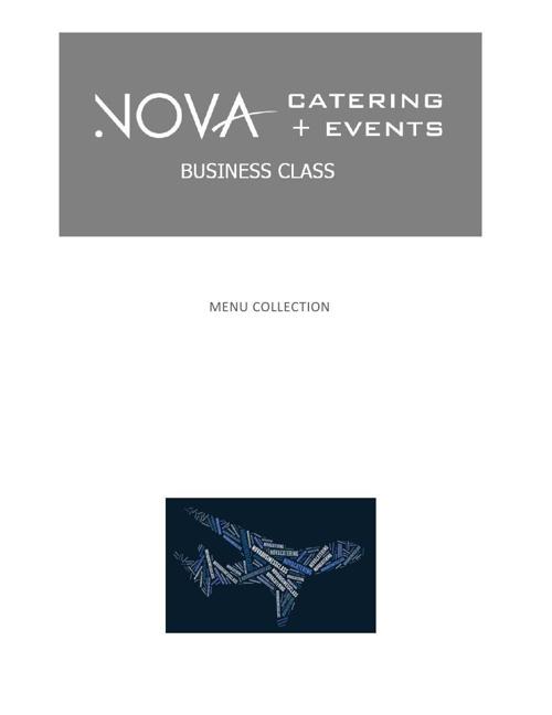 NOVA BUSINESS CLASS MENU COLLECTION