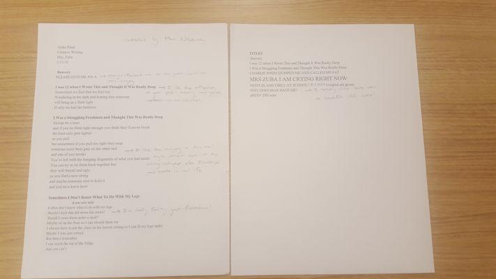 Free Verse Poems Rough Draft