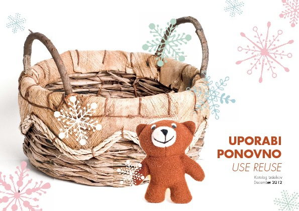KATALOG-UPORABI PONOVNO / USE REUSE December 2012