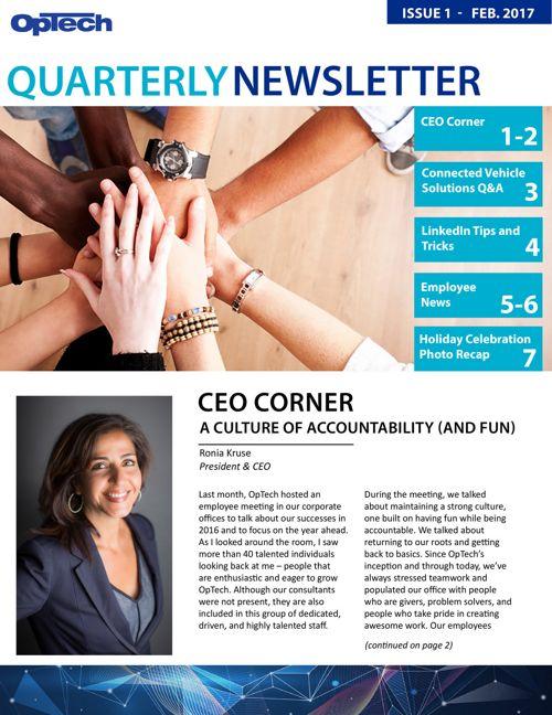 OpTech February Quarterly Newsletter