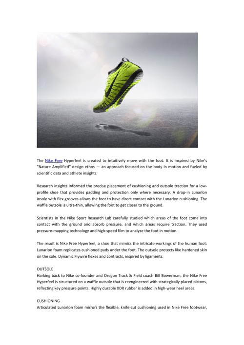 The Nike Free Hyperfeel is created to intuitively move with the