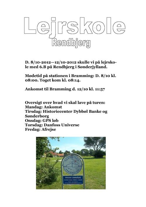 Lerjskole ~ Rendbjerg