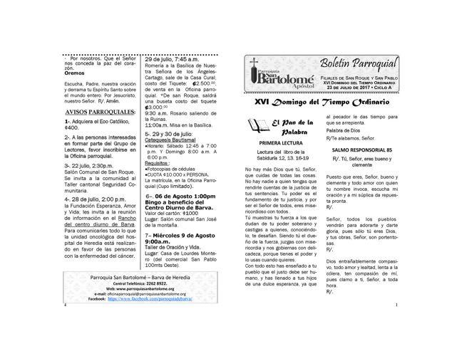 Boletín 23 de Julio