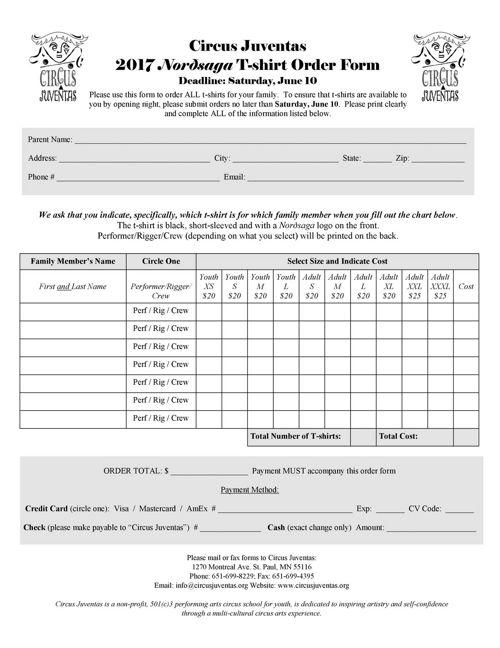 Nordsaga_T-shirt order form