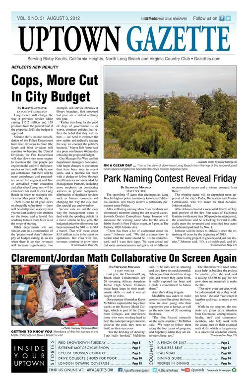 Uptown Gazette  |  August 3, 2012