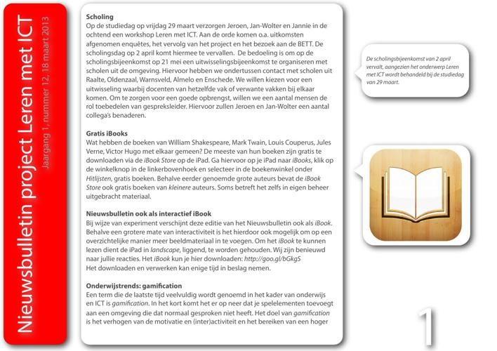 Nieuwsbulletin Leren met ICT, jaargang 1, nummer 12