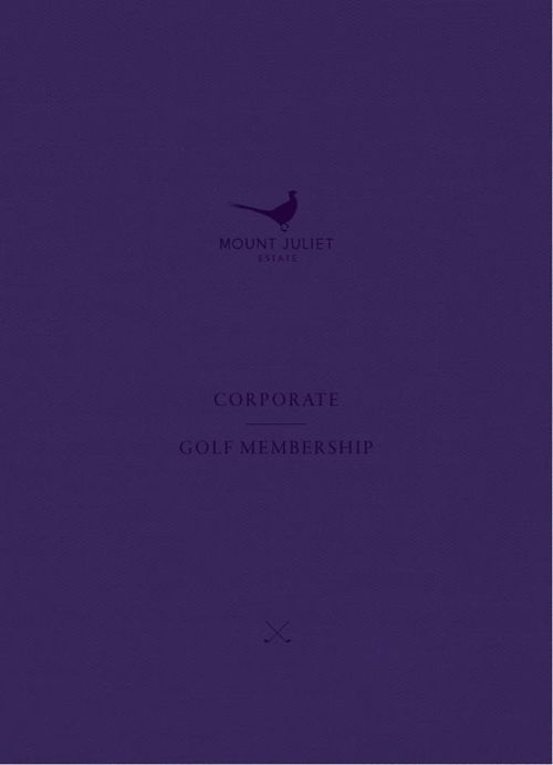 Mount Juliet Estate - Corporate Golf Membership